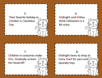 Halloween: 2nd Grade Task Cards: Punctuation, Contractions, Greetings/ Closings
