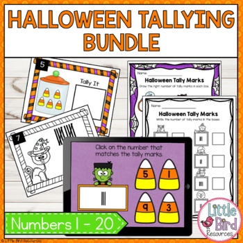 Spooktacular Tallying Bundle - Write the Room, Count & Tally, Worksheets