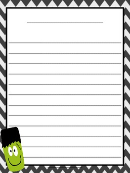 Spooktacular Writing Template