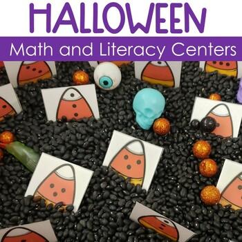 Spooktober - Kindergarten Math and Literacy Centers