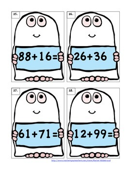 Spooky 2-digit Addition Scoot