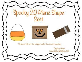 Spooky 2D Plane Shape Sort