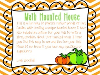 Spooky! A Math Haunted House (fact families and number bonds)