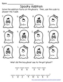 Spooky Addition Riddle - Single-Digit Addition