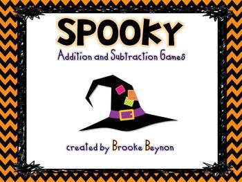 Spooky Addition and Subtraction Games