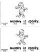 Spooky!  An Early Emergent Reader PLUS Word and Picture Cards! 2 Versions!