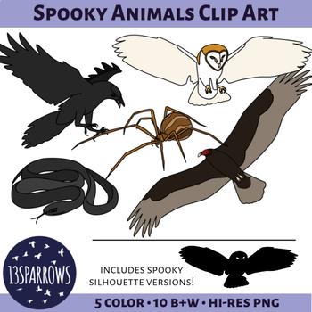 Spooky Animals Clip Art