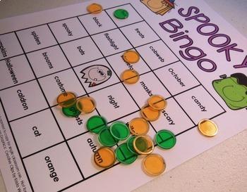 halloween bingo and sorting activity