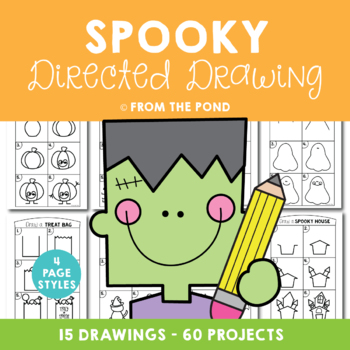 Halloween Directed Drawings.Halloween Spooky Directed Drawing By From The Pond Tpt