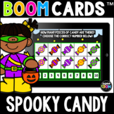 Spooky Candy Math Boom Cards™ - Halloween/Fall Distance Le