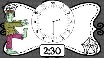 Halloween Spooky Clocks- Telling Time to the nearest 5 min (Powerpoint)