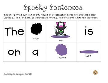 Spooky Common Core Sentences