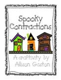 Spooky Contractions Haunted House Craftivity
