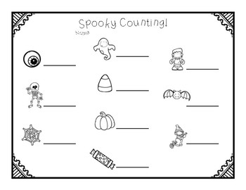 Spooky Counting-A Halloween Write The Room