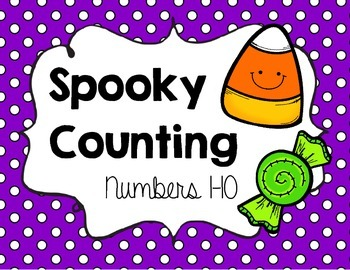 Spooky Counting {{Halloween Math Center Activity for Numbers to 10}}
