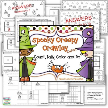 Halloween Spooky Creepy * Color, Count, Tally & Do- Instant and Interactive Math