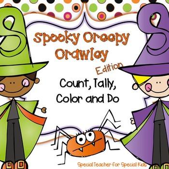 Halloween Spooky Creepy * Color, Count, Tally & Do- Instan