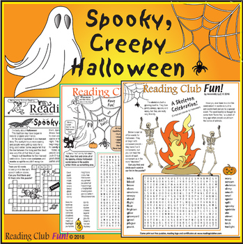 Spooky, Creepy Halloween – Hauntings, History, Safety (Reading Comprehension)