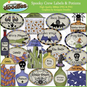 Spooky Crew Labels & Potions