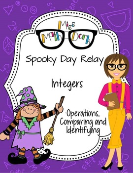 Integers! Spooky Day Relay - A fun way to review.