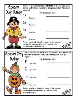 Spooky Day Relay template - Personal Use Only!
