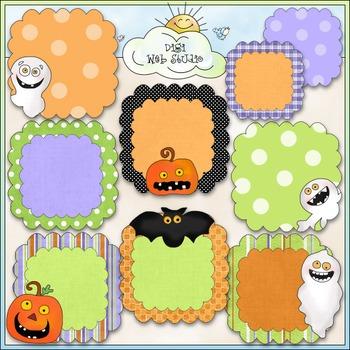 Spooky Days Halloween Frames Clip Art - Halloween Clip Art - CU Colored Clip Art