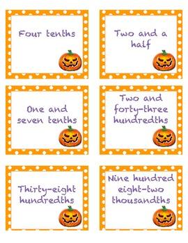 Spooky Decimal Match!