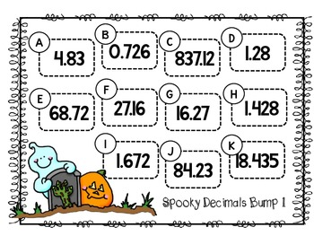 Spooky Decimals Bump-Decimals Through Thousandths