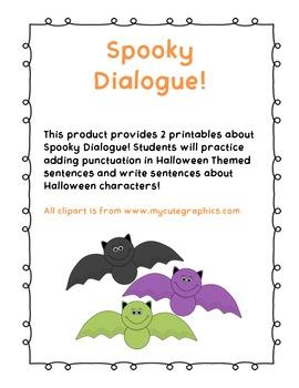 Spooky Dialogue! (CCSS Aligned)