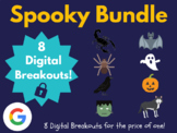 Spooky Digital Breakout Bundle (Halloween, Distance Learni