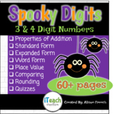 Halloween Place Value Spooky Digits Math Centers Bundle