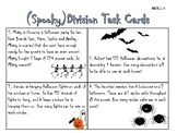 Spooky Division Task Cards- Halloween Theme