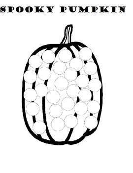Spooky Dot Art for Halloween