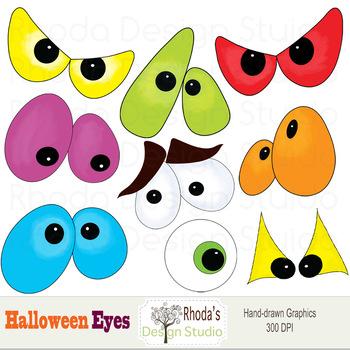 Halloween Spooky Eyes (RDS Clipart)