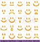 Spooky Faces Halloween Clipart Clip Art, Halloween Ghost or Pumpking Faces