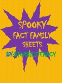 Spooky Fact Family Sheets-Facts2-12's-BILINGUAL!