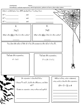 Spooky Fall Order of Operations