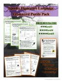 Differentiated Figurative Language Spooky Crossword Puzzle Pack