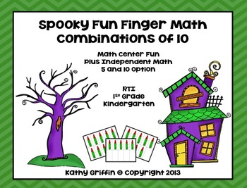 Spooky Finger Fun Math Combinations of 5 and 10