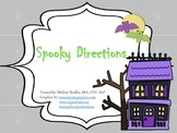 Spooky Following Directions Halloween Themed