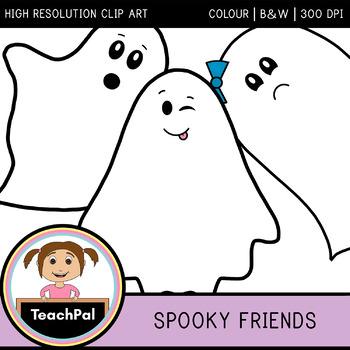 Spooky Friends - Halloween Ghost Clip Art
