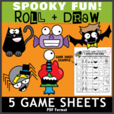 Spooky Fun - 5 Roll and Draw Game Sheets