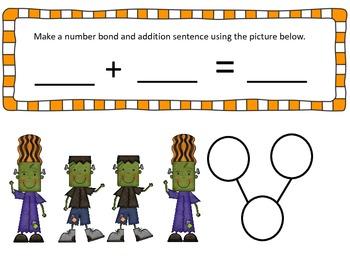 Spooky Fun Halloween Number Bonds Common Core Aligned Grade 1 Math