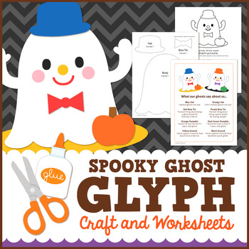 Spooky Ghost Halloween Glyph Craft and Worksheets