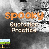 Quotation Marks: Ghosts Say What?