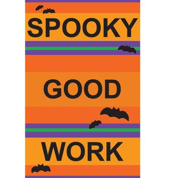 Spooky Good Work Halloween Classroom Poster