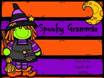 Spooky Grammar- A Print and Go Packet