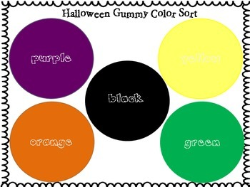 Spooky Gummy Shape Sort