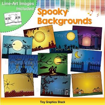 Spooky Halloween Background Clip Art