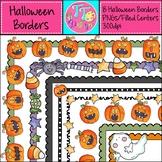 Spooky Halloween Borders Frames {8.5 x 11} Clip Art CU OK